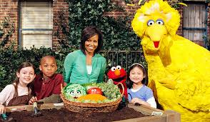 Obama hits Sesame Street