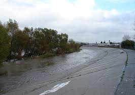 Los Angeles River behind