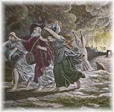 Lot saliendo de Sodoma