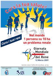 manifesto GMR 2009 12 marzo, Giornata Mondiale del Rene