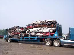truckload of scrap metal