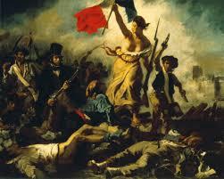 La libertad guiando al pueblo (de E. Delacroix)