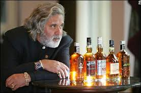 Mallya with Diet Whiskies and Vodkas