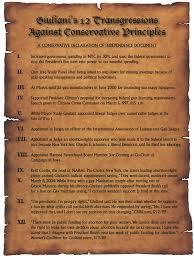 Giuliani's 12 Transgressions