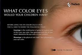 Eye color calculator