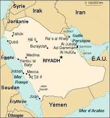 quelques insolites! dans et si le monde... arabie-Saoudite-map