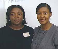 Poet Kim Thomas and SHS teacher and Mississippi writer Anne Smith. - kim-thomas4
