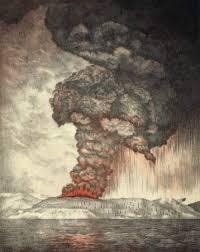 Ilustrasi letusan Gn. Krakatau
