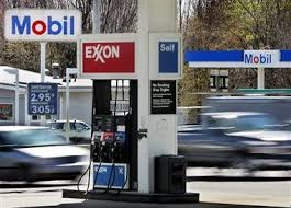 Exxon and Mobil gas stations
