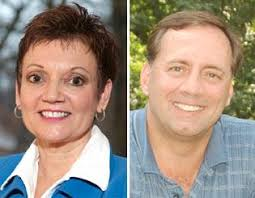 Republican David McAloon, right, announced his plans to challenge Democratic U.S. Rep. Debbie Halvorson, left, in 2010 for her seat in Congress. - 66dab366-5285-5d6b-af1c-7e58bdd82a04.image