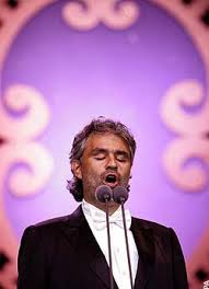 The blind tenor Andrea Bocelli