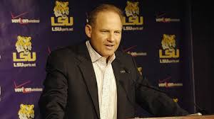 LSU head coach Les Miles at