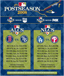 ALCS and NLCS Schedule