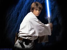 Luke Skywalker with lightsaber