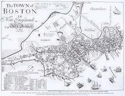 1772 map of Boston