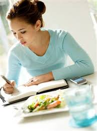 food diary keeping illustration