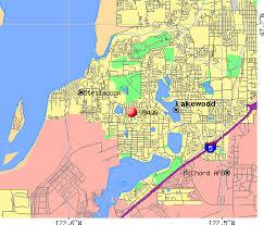 Lakewood, WA (98498) map