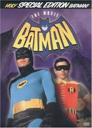 Adam West as Batman, with Burt Ward