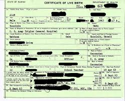 "A Hawaiian ""Certificate of Live Birth"" in 1961, Obama's birth year"