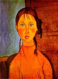Amedeo Modigliani - Ragazza con le trecce (1918)