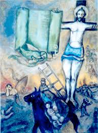 Yellow Crucifixion (1943). Marc Chagall (1887-1985).