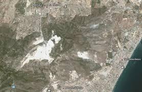 Canteras a vista de satelite