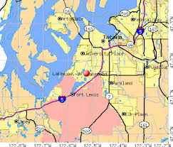 Lakewood, WA map