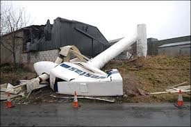 collapsed  Vestas wind turbine