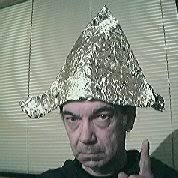 Syd Posing in his Delightful New Tinfoil Hat