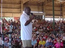 Herman Cain at the Cobb Tea