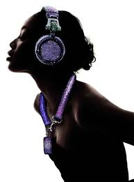 swarovski collectibles, headphones