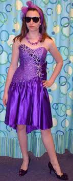 80's Purple Strapless Party