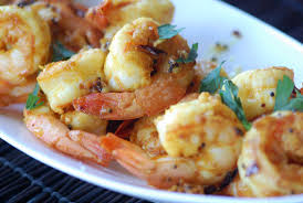 Saut�ed Shrimp with Turmeric