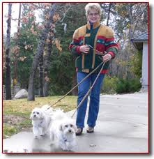 Gloria Loring and her dogs,