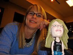Kristi Lee and her Bobblehead - 4191258592_71463ea721