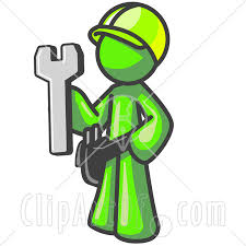 Green construction worker