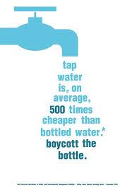 Water: Boycott bottles!