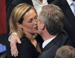 ... new President Christian Wulff, right, kisses his wife Bettina Wulff. - 420wulff-420x0