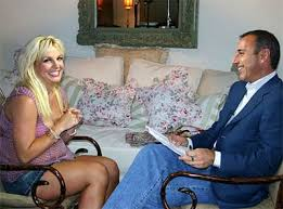 Britney Spears and Matt Lauer