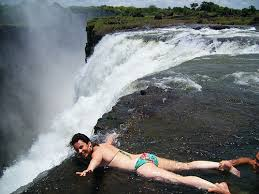 Devil's pool (above Vic Falls
