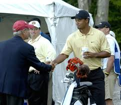 David Cook with Tiger Woods
