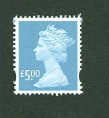 queen on stamp