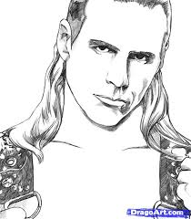 drawing of Shawn Michaels - how-to-draw-shawn-michaels-step-6