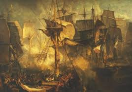 La bataille de Trafalgar, par Turner