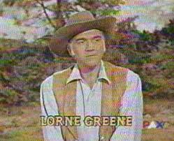 Lorne Greene (not smiling)