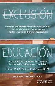Cartel publicitario apoyando la Educación para todos
