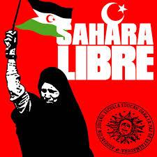Cartel reivindicativo demandando libertad para el Sahara