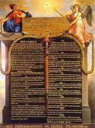 1789, Declaración de los derechos del hombre y del ciudadano