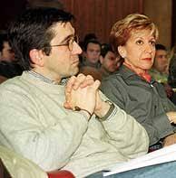Patxi López y Rosa Díez, en otros tiempos, cuando ambos militaban en el PSE-PSOE