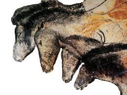 Las cuatro cabezas equinas representadas en la cueva de Chavet (Francia)